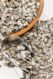 Nutritious Sunflower Seeds in the Hull Royalty Free Stock Photography