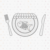 Nutritive food design. Illustration eps10 graphic Stock Images
