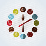 Nutritive food design. Illustration eps10 graphic Royalty Free Stock Image