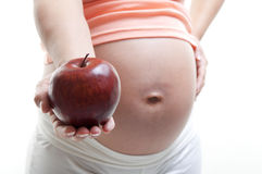 Nutrizione di gravidanza Fotografia Stock Libera da Diritti