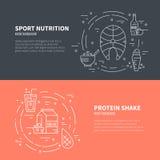 Nutrizione di sport illustrazione di stock