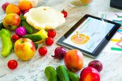 Nutrizione ed orientamento sani del software Fotografia Stock Libera da Diritti