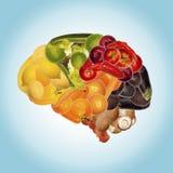 Nutrizione sana contro demenza Fotografia Stock Libera da Diritti