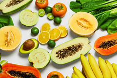 Nutrizione sana Verdure organiche, frutti Ingredienti di alimento Fotografia Stock Libera da Diritti