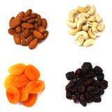Nuts и сухие плодоовощи Стоковые Изображения