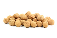 nuts куча обстреливает unshelled грецкие орехи Стоковые Изображения