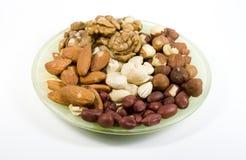 nuts поддонник несколько типов Стоковые Изображения