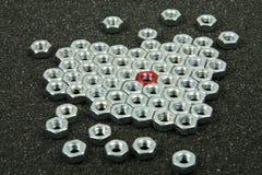nuts сталь винта Стоковая Фотография