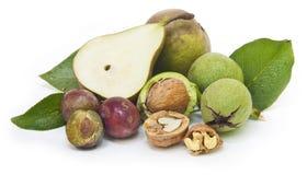 nuts черносливы груш Стоковое Изображение RF