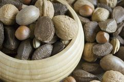 Nuts. A bowl of mixed nuts Stock Photo