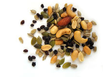 Nuts. Nut, nuts, healthy, diet, sunflower, seeds, peanuts, almond, dry, pumpkin Stock Images