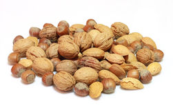 Nuts. A Bowl of mixed nuts stock image