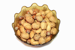 Nuts. A Bowl of mixed nuts stock images