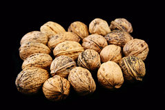 Nuts. Nuts isolated over a black Background Royalty Free Stock Images