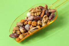 Nuts. Organic, fresh mixed nuts, close-up stock photography