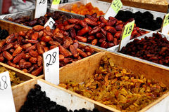 Nuts. On a market in the Middle-East Stock Photography