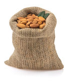 Nuts almond on white Stock Image