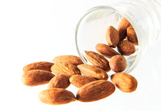 Nuts almond isolated. Nuts almond on white background Stock Photo