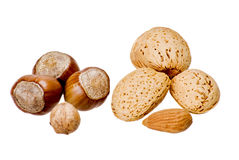 Nuts and almonds Royalty Free Stock Photos
