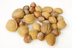 Nuts and almonds Stock Photos