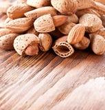 Nuts almonds Stock Photos