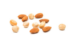 Nuts almonds invalid food Royalty Free Stock Images