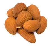 Nuts almonds. Isolated d f Stock Photography