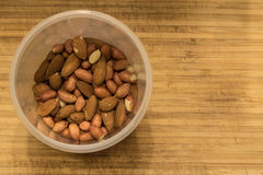 Nuts, almonds and peanuts. Healthy, snack Royalty Free Stock Photos