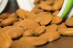 Nuts almonds Royalty Free Stock Photos