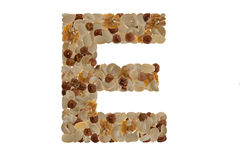 Nuts alphabet Royalty Free Stock Image