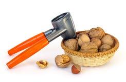 Nuts And Nutcracker Royalty Free Stock Photo