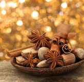 Nuts with anise Stock Images