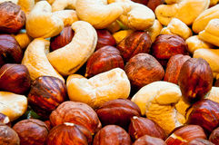 Nuts as background royalty free stock image