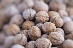 Nuts at the asian market Royalty Free Stock Photos