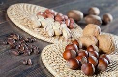 Nuts assortment Stock Photo