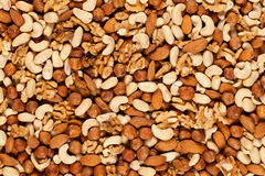 Nuts background Stock Photos