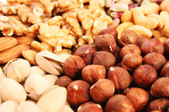 Nuts background Royalty Free Stock Photos