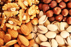 Nuts background Royalty Free Stock Photo