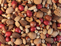 Free Nuts Background Royalty Free Stock Photos - 46345818