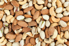 Nuts background Royalty Free Stock Image