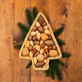 Nuts Background Royalty Free Stock Photography