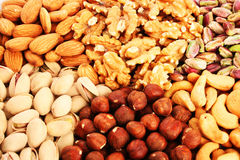 Nuts background stock image