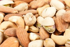 Nuts background stock photography