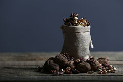 Nuts in a bag Royalty Free Stock Image