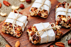 Nuts bars Stock Image
