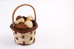Nuts basket Stock Photo