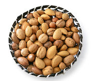 Nuts in basket Royalty Free Stock Images