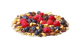 Nuts and Berries in Circle Shape Royalty Free Stock Photo