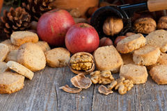 Nuts biscuits Royalty Free Stock Photos