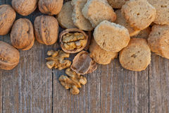 Nuts biscuits Stock Photos